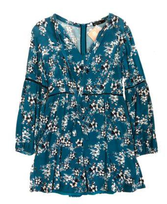 Vestido COSTUME Feminino Azul Florido