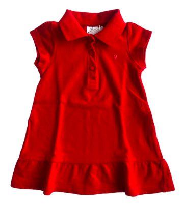 Vestido Polo Zara Infantil Vermelho