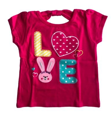 Camiseta Garanimals Infantil Pink Love