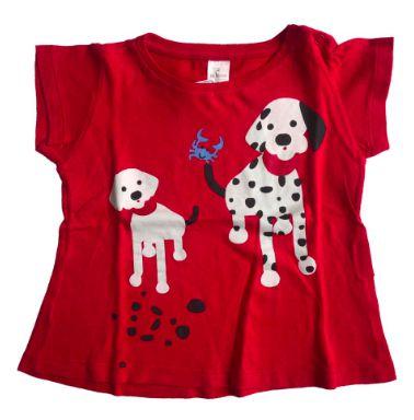 Blusa BB BÁSICO Infantil Vermelha Cachorrinhos