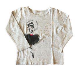 Camiseta CARTER'S Cinza Bailarina Manga Longa