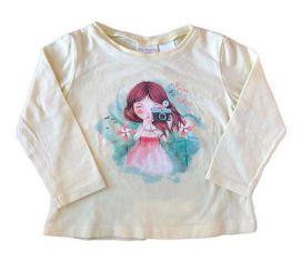 Camiseta ZARA Infantil Amarela Manga Longa