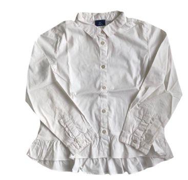 Camisa CHICCO Infantil Branca com Babado na Cintura