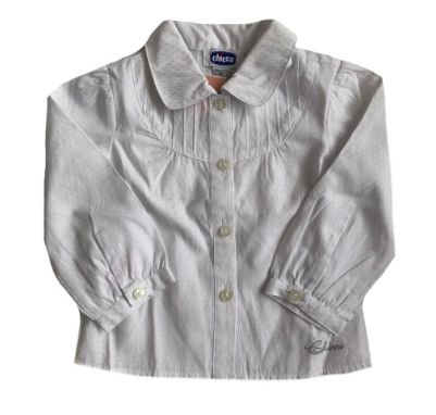 Camisa CHICCO Infantil Branca Manga Longa