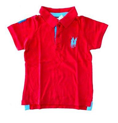Polo Pima Cotton Infantil Vermelha