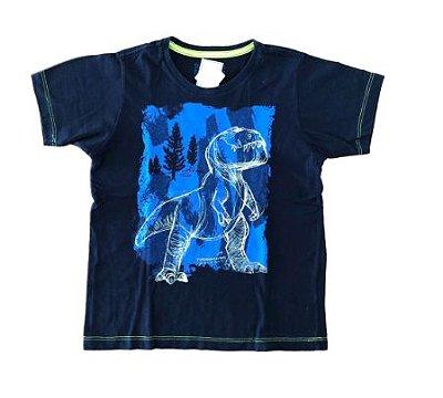Camiseta Disney Infantil Azul Marinho O Bom Dinossauro