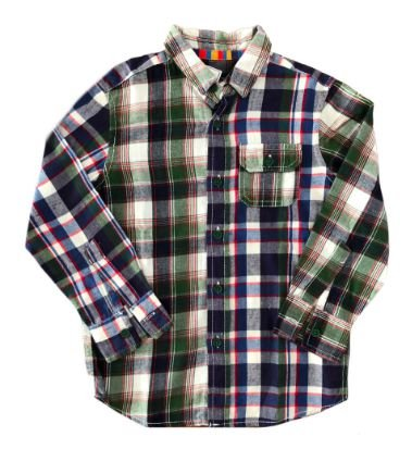 Camisa Xadrez Blue Zoo Infantil Flanela