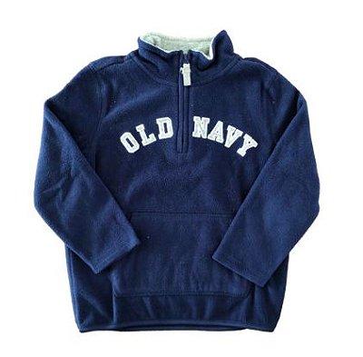 Agasalho Old Navy Infantil Azul Marinho Fleece
