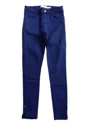 Calça ZARA Feminina Azul Royal Jeans