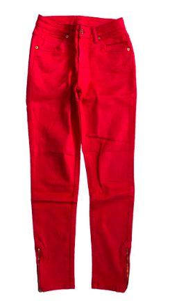 Calça LE LIS BLANC Vermelha em Sarja Reta com Zíper
