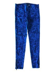 Calça ZARA Azul e Preto Estampada