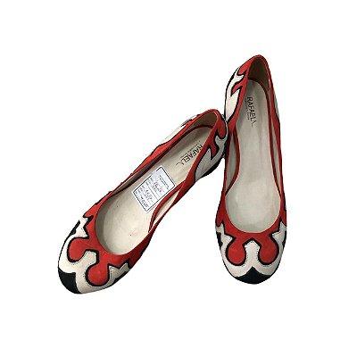 Sapato RAFAELA Vermelho, Branco e Preto