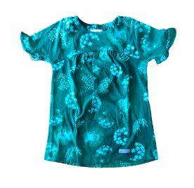 Vestido GREEN Infantil Verde e Azul