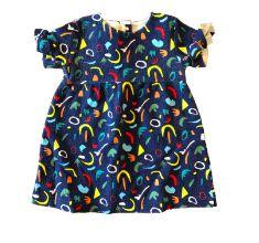 Vestido ZARA Infantil Azul Marinho Colorido