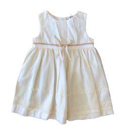 Vestido CARTER'S Infantil Off White com Tule