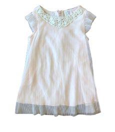 Vestido ZARA Infantil Rosa com Tule Canelado