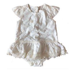 Vestido Anjos Chic Infantil Branco com Pérolas