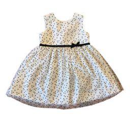 Vestido CARTER'S Infantil Branco com Poá Preto Tule