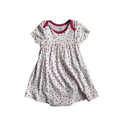 Vestido CARTER'S Infantil Borboletas Pink