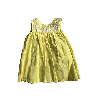 Vestido CARTER'S Amarelo Bordado