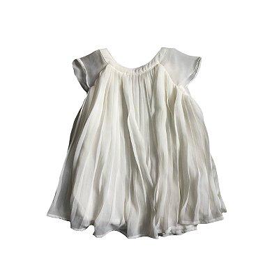 Vestido OSHKOSH Branco Canelado