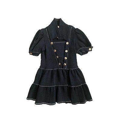 Vestido TYROL Azul Marinho Canelado