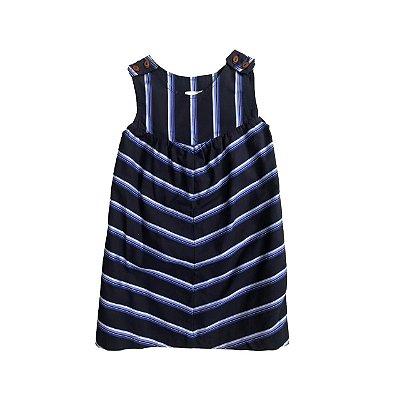 Vestido CRIS BARROS Infantil Azul com Listras