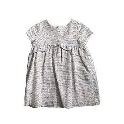 Vestido ZARA Infantil Listras Coloridas Brilhantes