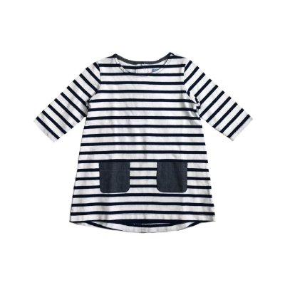 Vestido baby GAP Listrado Manga Longa