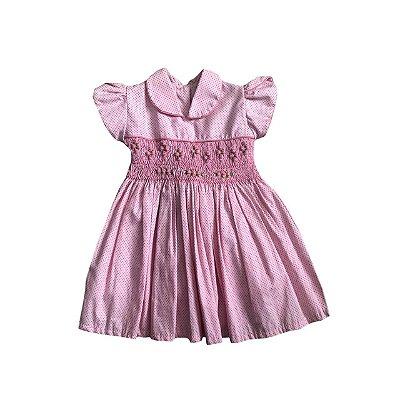 Vestido Infantil Casa de Abelha Rosa