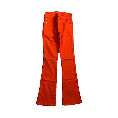 Calça MOB  Feminina Laranja Jeans Flare