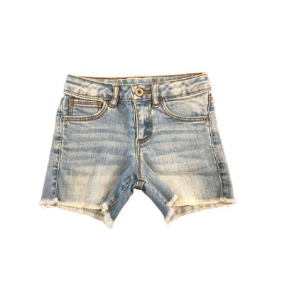 Shorts Jeans Zara Infantil Desfiado Barra