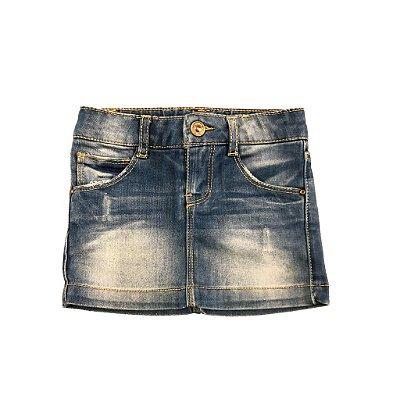 Saia Jeans Manchada Zara Kids