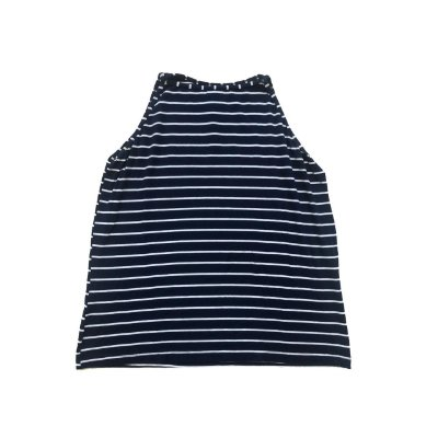 Blusa SANTA COSTURA Azul Marinho e Branco Listrada
