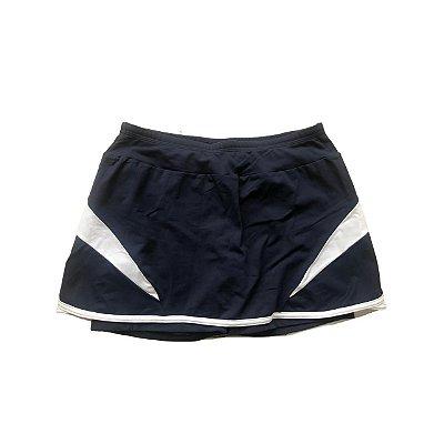 Shorts Saia NICA FILÓ Azul Marinho e Branco