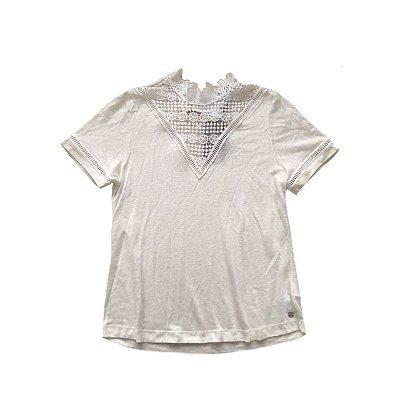 Blusa MURAU Of White com Detalhe em Renda (com etiqueta)