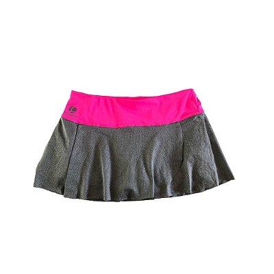 Shorts Saia Artengo Cinza e Rosa