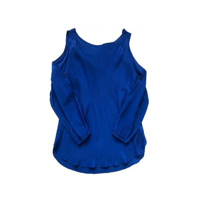 Blusa LE LIS BLANC Azul Royal Seda