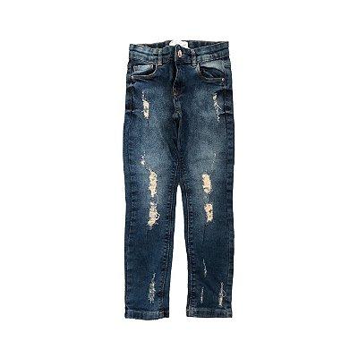 Calça Jeans RENNER Infantil Rasgada