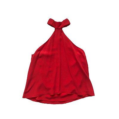Blusa Vermelha em Seda (Nova)