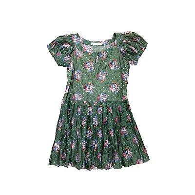 Vestido CRIS BARROS Verde Florido