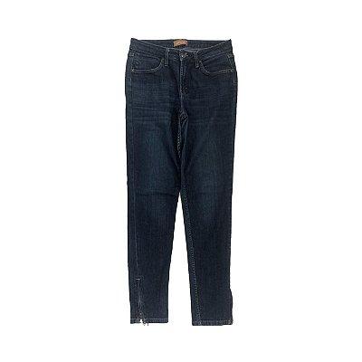 Calça Jeans LETAGE Escura com Zíper na Barra