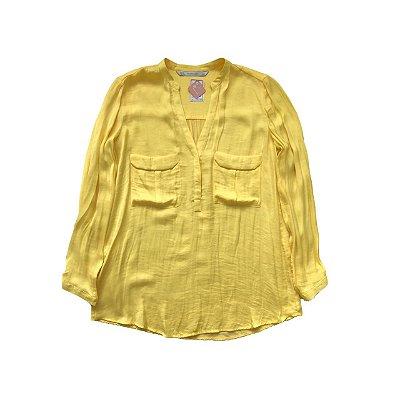 Camisa ZARA Feminina Amarela