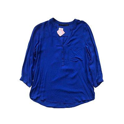 Camisa ZARA Azul Royal Manga Longa