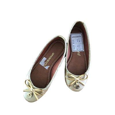 Sapatilha Amo Sapato Infantil Dourada