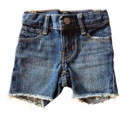 Shorts Jeans baby GAP Escuro Desfiado