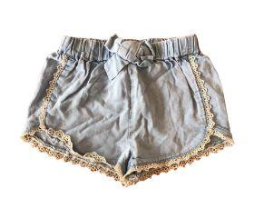 Shorts Jeans ZARA Infantil Molinho com Renda