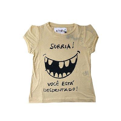 Camiseta SPIRODIRO Amarela Sorria!