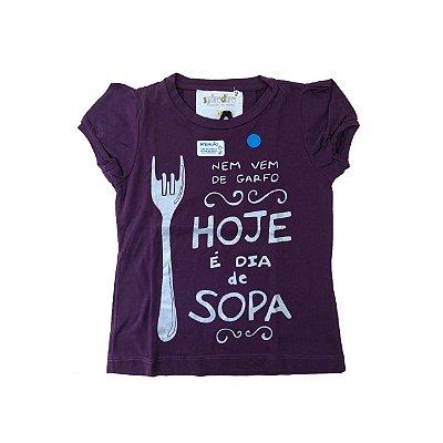 Camiseta SIRODIRO Roxa Hoje é Dia de Sopa