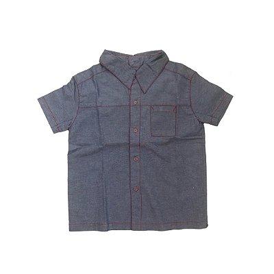 Camisa SPIRODIRO Vai e Vem Jeans Costura Vermelha